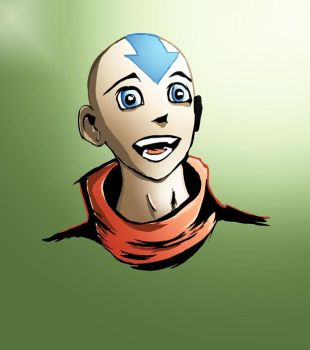 Aang quick sketch and color by Lugauskas