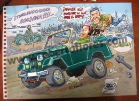 Jeepster Commando C101 cartoon by Roberto67