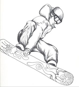 Snowboarder by Depictan