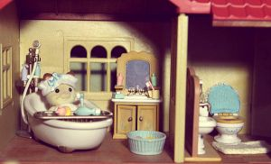 Sylvanian Bathroom I by JoannieCandi