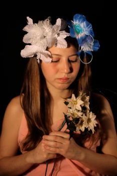 Girl with flowers 3 by Iv4n4stock