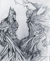 Batman Vs Spawn drawing by DiegoE05
