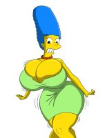 Marge Simpson Hourglass Expansion by Tomkat96