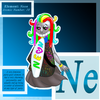 ELEMENT CHARACTER: Neon [Ne] by Reptonic
