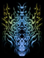 Abstract Skull Tree by kbhollo