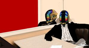 Daft Punk-Iscribble by Tom-Hiddles