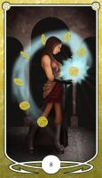 Eight of Pentacles by Shegon