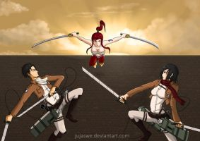 Attack on Titania by jujaswe