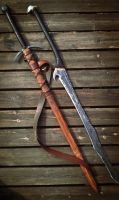 Longsword n Orcish Greatsword by Sinclair-Man
