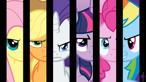 My Little Ponies: Friendship Is Magic Wallpaper by JonaShadowDesigns