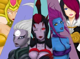 League of Legends Girls - Second Group - (A - Z) by Dweynie