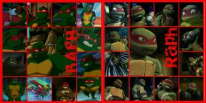 TMNT:: Raph: collage: 2003/2012 by Culinary-Alchemist