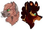 Last two headshots for marinewolf's sticker page by nightspiritwing