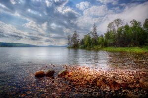 Flack Lake, Ontario, Canada by chalutplease