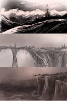concept art landscapes by true-crystalwolf