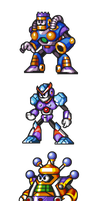 "MegaMan ""Sprites""-Bosses of 7 by WaneBlade"