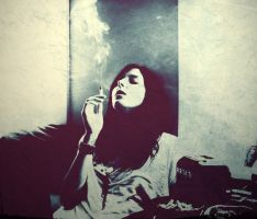 smoke filled room. by lostinthisphotograph
