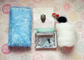 Complete Blue Mohair Kit for a Chubby Friend by ShadowedPorcelain