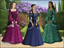 Tudors Maker ~ Three Ladies by MiniatureBlueOwl