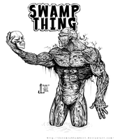 Swamp Thing -June '12 Daily Art Jam- Day 13 by JeremiahLambertArt