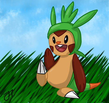 Chespin by bg4strings