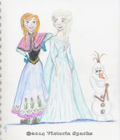Anna and Elsa... and Olaf! by Out2Discover
