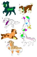 Adopt cute puppies NEW PRICES by AtlanticGryphon