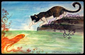 The cat and the fish by Zoehi