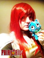 Erza And Happy by emoPANDAattack