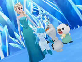 MMD Frozen-PKMN - Lovely Glaceon by JackFrostOverland