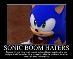 Sonic Boom Demotivational: Sonic Boom Designs by MrNeedleMouse00