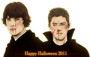 Supernatural - Happy Halloween by Kumagorochan