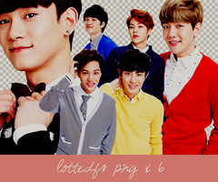 140330 lottedfs EXO Png x 6 by Ruvita