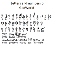 Letters and numbers of GeoWorld by GJYYNGII