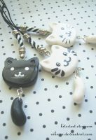 Dangle Kitty Phone Charm by Nika-N