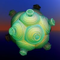 greenyellow swirl ball by Andrea1981G
