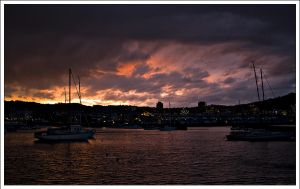 Sunsets in Freyberg by whhoah
