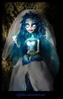 monster high ooak repaint: Emily from corpse bride by clefchan