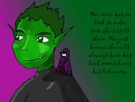 Beastboy's Shoulder Angel by VixenRapture
