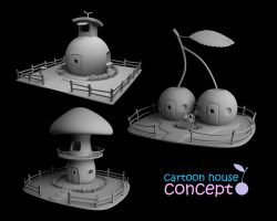 cartoon house by dwiirawan