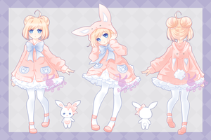 Bunny Hoodie Adoptable: CLOSED by RaineSeryn