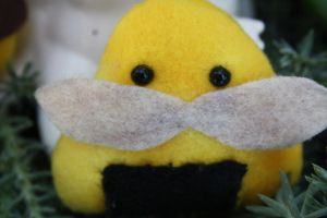 Plush Machismo Onigiri Yellow by Feltbetterplush