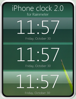 iPhone clock 2.0 for Rainmeter by fediaFedia