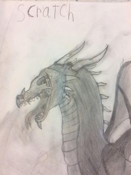 A little sketch of my new villain Scratch by ObsidianTheDragoness