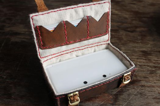 Leather box for my 3DS inside by wulvi