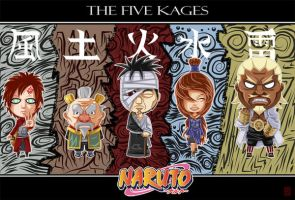 the five kages by DaKroG