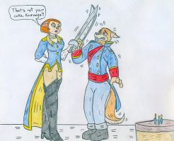 Captain Amelia vs Don Karnage by Jose-Ramiro