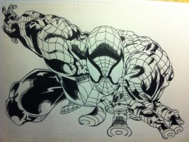 Spiderman 1 Inked by Stryker224
