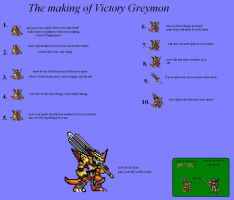 The making of VictoryGreymon by yurestu