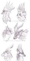 Gryphon faces by Sysirauta